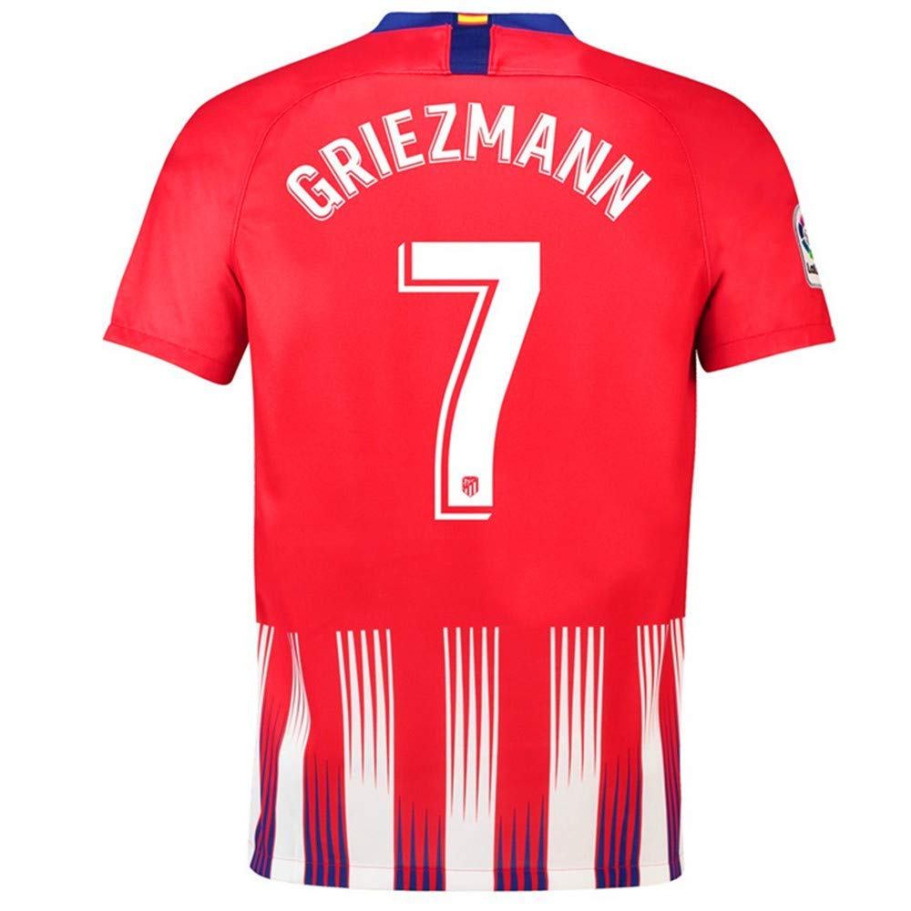 Xnixhu Griezmann #7 Atletico Madrid Home Mens 2018//2019 Socce Jersey