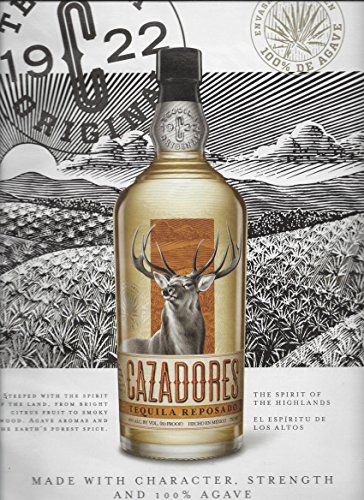 MAGAZINE AD For 2015 Cazadores Tequila Made With Character & Strength