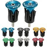 JNP 1 Paio Manubrio fine Spine Road MTB Bici Bicicletta Alluminio Manubrio manopole ad Alta qualità Maniglia Bar cap Tappi 6 Colori