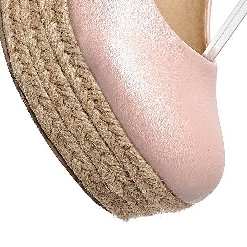 Balamasa Girls Fibbia Talons Hauts Solid Knit Pumps-chaussures, Rosa (pink), 35