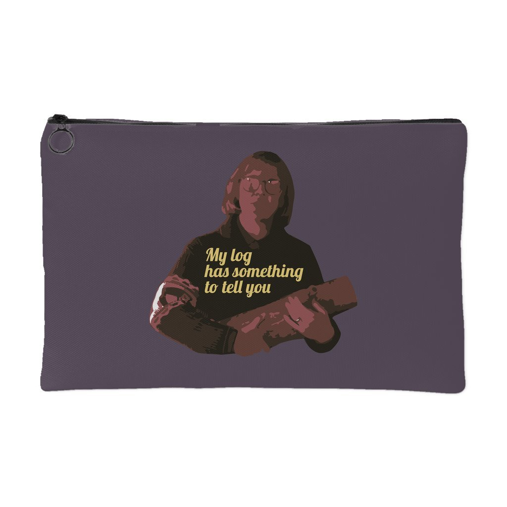 Zip Pouch Log Lady Twin Peaks My Log Has Something To Tell You Coin Purse