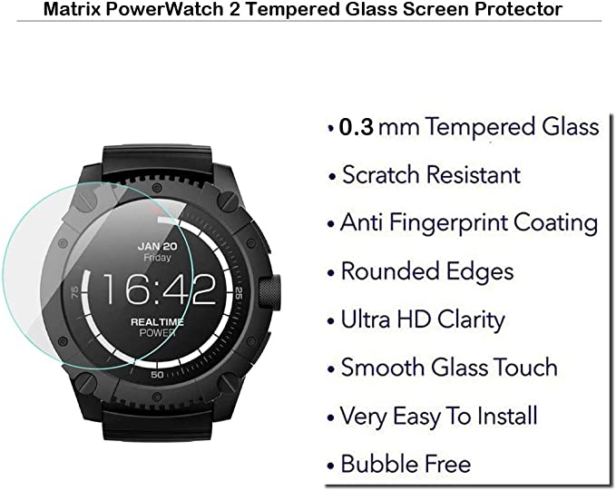 Amazon.com: MOTONG for Matrix PowerWatch 2 Screen Protector ...