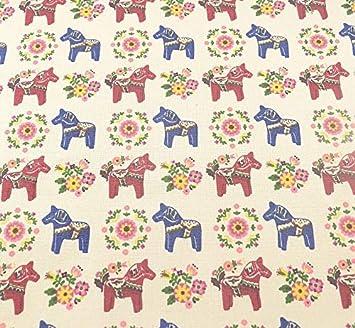 Tela para costura o tapizar diseño caballitos de textura de ...