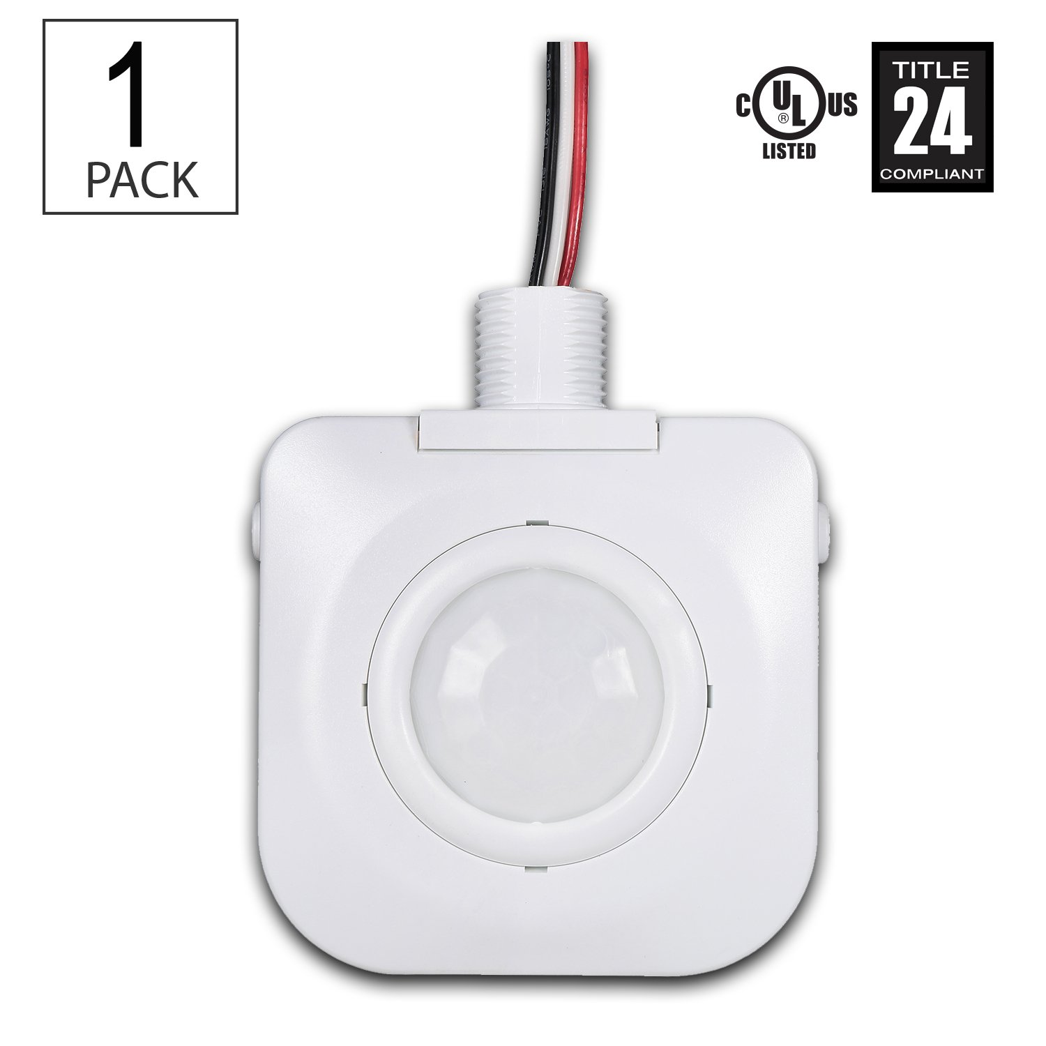 (Pack of 1) Ceiling Occupancy Motion Sensor - Passive Infrared Technology - High Bay Fixture Mount 360 Degree - By Dependable Direct, Hard-Wired, 120-277VAC, Commercial/Industrial Grade, White