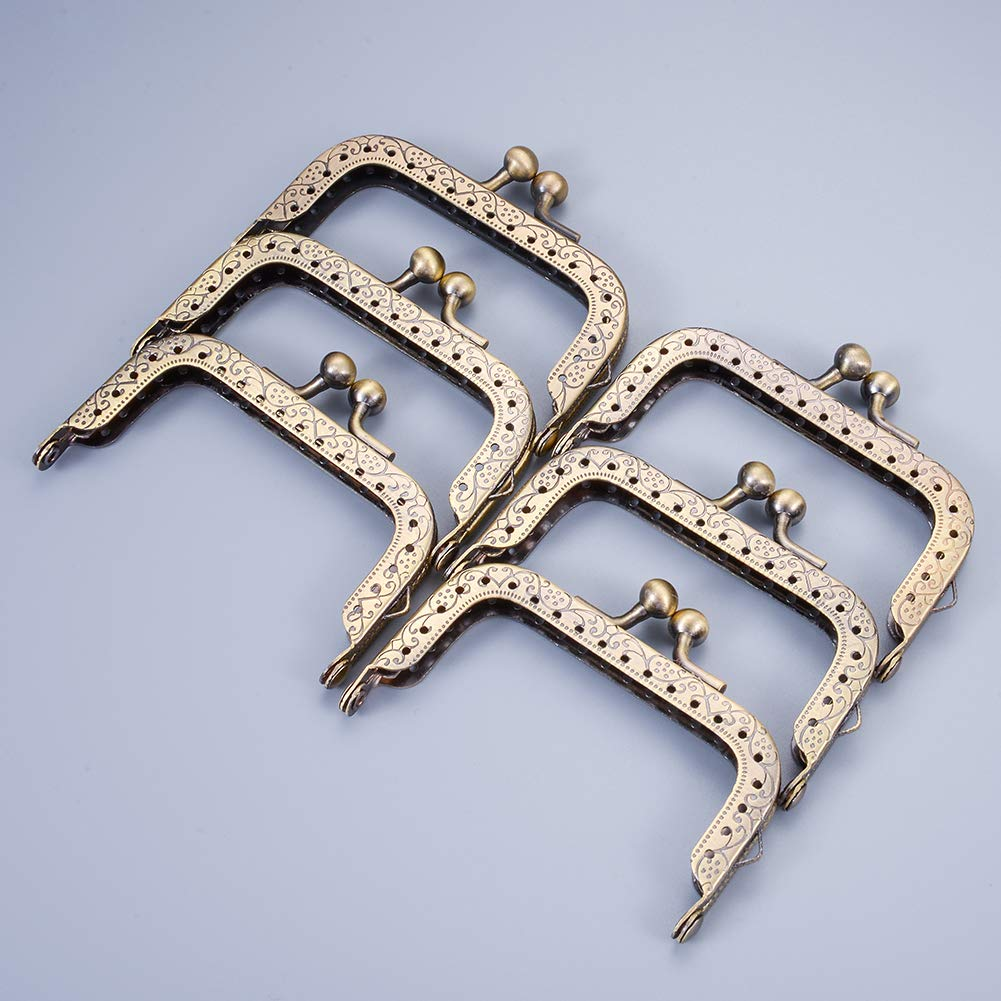6.5cm-10pcs Color Bronce 13 HooAMI Cartera de Metal con Cierre de mosquet/ón