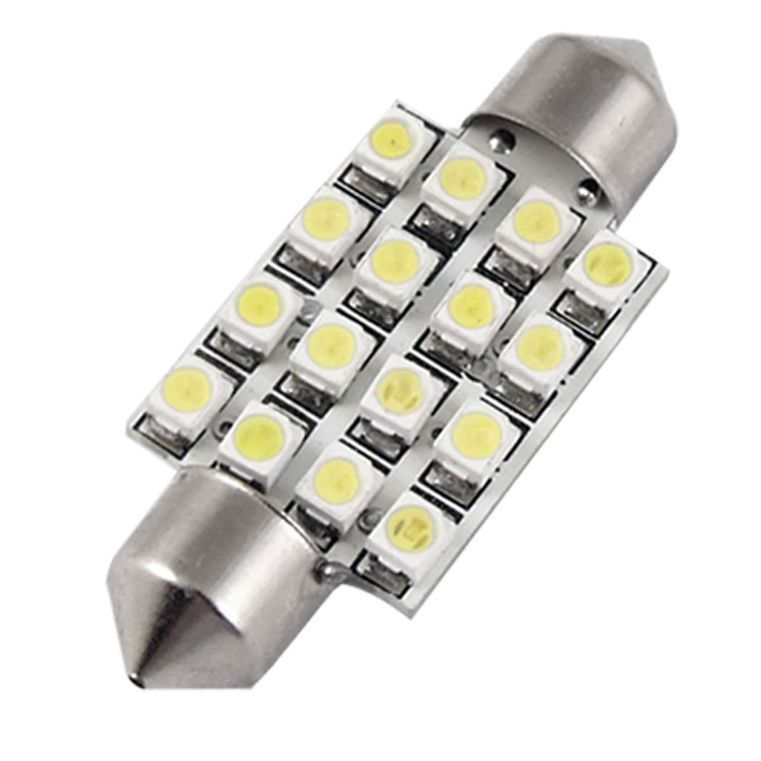 Amazon uxcell car 38mm white 16 smd led interior festoon dome amazon uxcell car 38mm white 16 smd led interior festoon dome map light bulb automotive arubaitofo Choice Image
