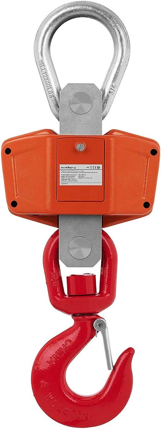 Kranwaage LED Industriewaage 360° Hängewaage Lastenwaage Zugwaage 3.000 kg