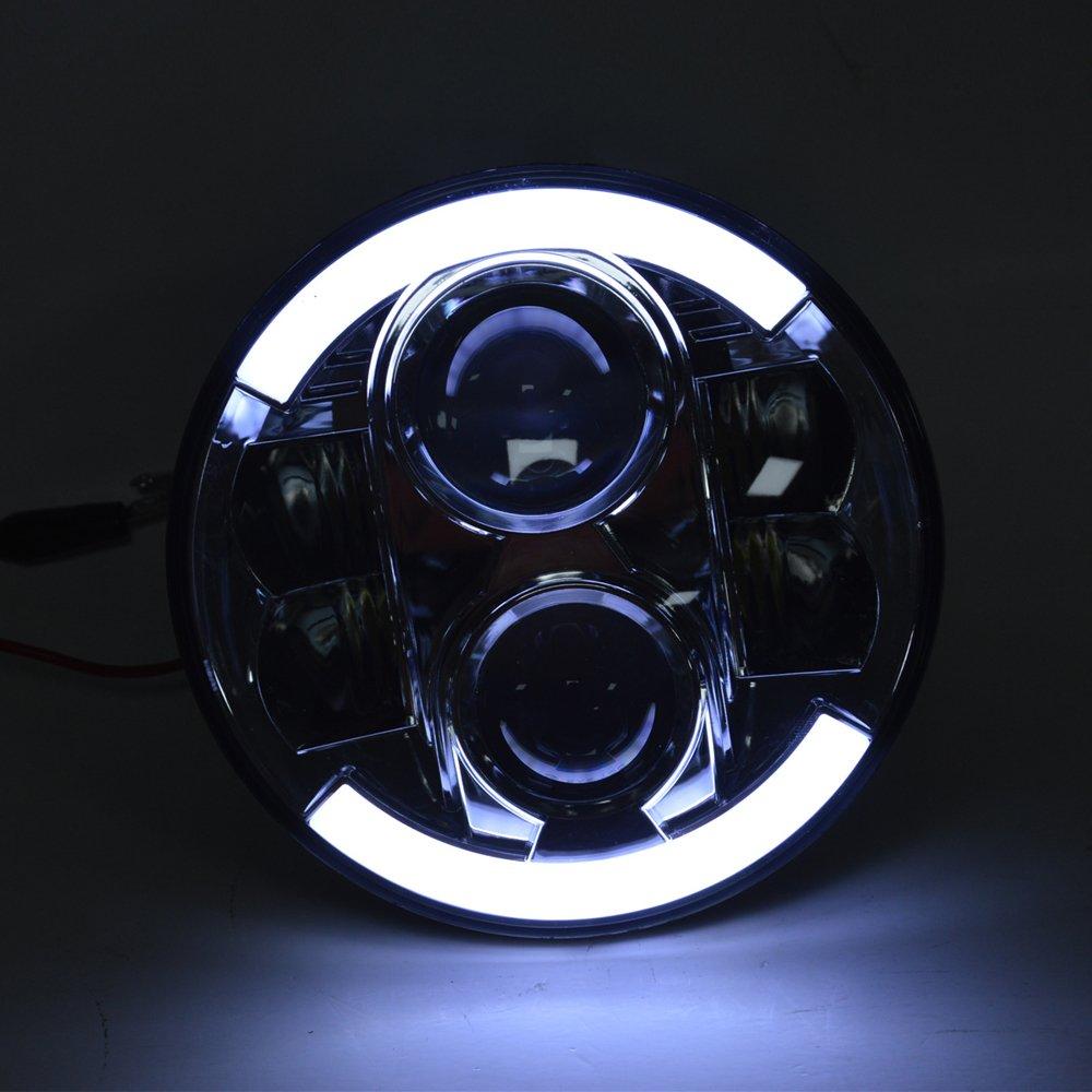 7 u0026quot  led projector daymaker chrome headlight harley street