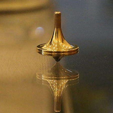 JIAN YA NA Reines Kupfer Spinning Top Spinning Tops Gebaut f/ür die Ewigkeit und Spin Forever Einzigartiges Geschenk Gold