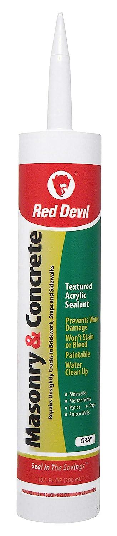 Red Devil 0646 Masonry and Concrete Acrylic Sealant Repair, Gray, 10.1 Oz Cartridge