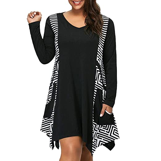 936a3e12294 Image Unavailable. Image not available for. Color  Oliviavan Womens Plus  Size Dresses ...