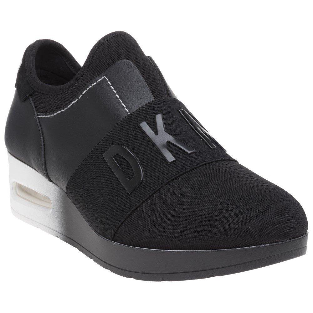 e545cbda223 DKNY Arnold Slip On Wedge Trainers Black 4 UK  Amazon.co.uk  Shoes   Bags