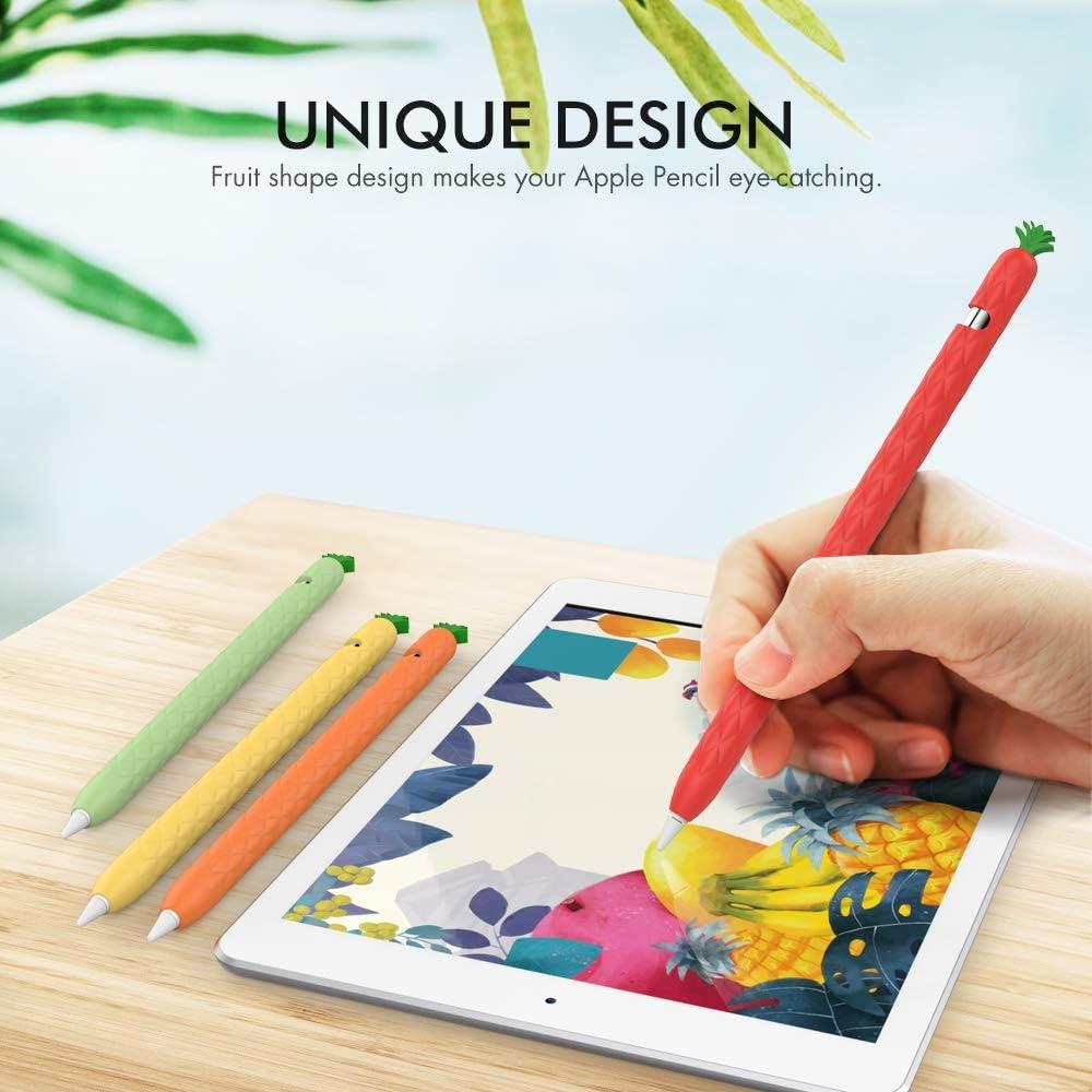 AHASTYLE /Étui de protection en silicone pour Apple Pencil 1 Motif fruits