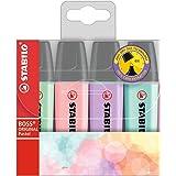 STABILO BOSS ORIGINAL Pastel - Pochette de 4 surligneurs - Coloris assortis
