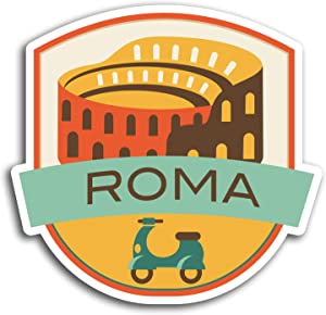 2 x 10cm Roma Italy Rome Travel Vinyl Stickers - Sticker Laptop Luggage #19544 (10cm Wide)