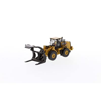 Diecast Masters CAT Caterpillar 972M Wheel Loader with Log Fork and Operator High Line Series 1/87 (HO) Scale Diecast Model 85950: Toys & Games