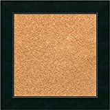 Framed Cork Board, Choose Your Custom Size, Corvino Black Wood