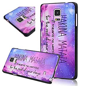 Seedan Purple Cloud Sparkling Sky Painting Case for Samsung Galaxy Note 4 Protective Hard Slim Design Cover Skin Super Light