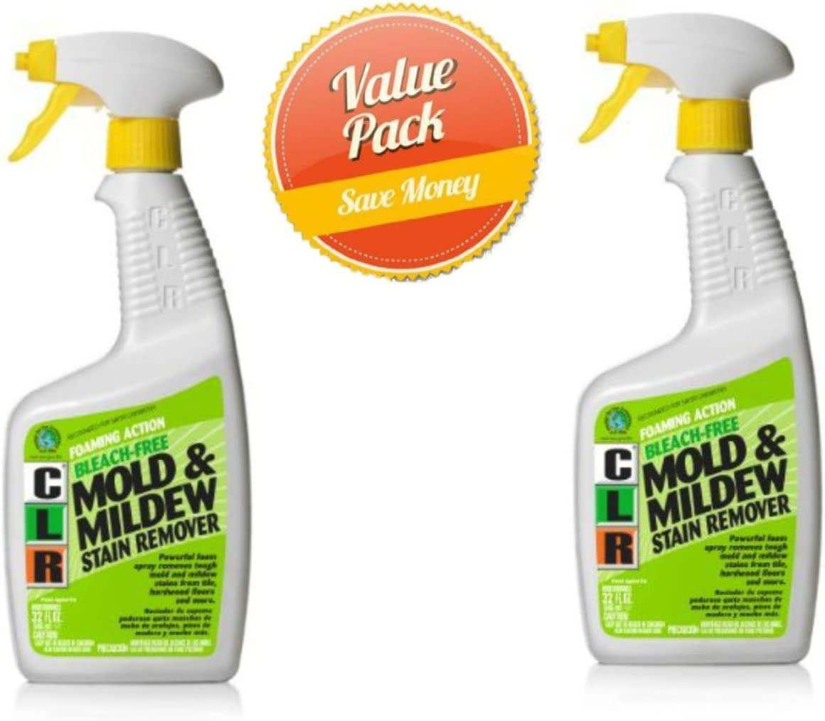 CLR PB-CMM-6 Mold and Mildew Stain Remover, 32 oz. Spray Bottle(Pack of 2)