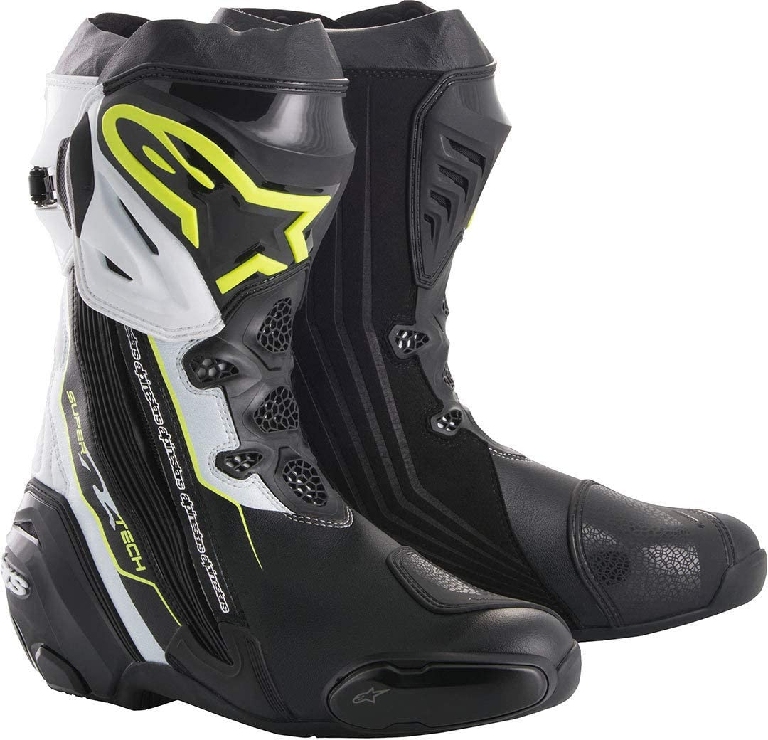 Alpinestars Motorcycle Boots Supertech R Black Red Yellow Fluo Black//Red//Yellow 46
