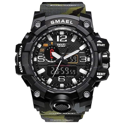 0a2b5a8e4099 ZRSJ Relojes Reloj de Pulsera para Hombre 50M Waterproof Reloj Digital g  Shock Hombre Reloj Deportivo