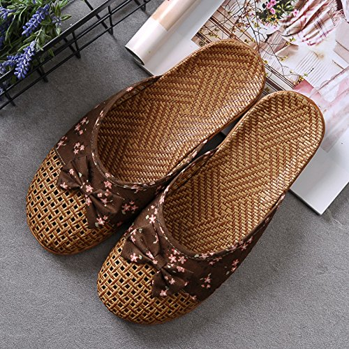 36 Hogar Slippers Floor Green 35 Home Asian Mujer Antideslizante 35 36 And GUANG Coffee Slippers Summer Bottom XING Sandals Thick Grass Lovers Interior Male T6RUZ6qzW