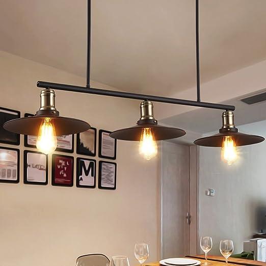 Buena Araña Retro Industrial Wind 3 Head Chandeliers Restaurant ...