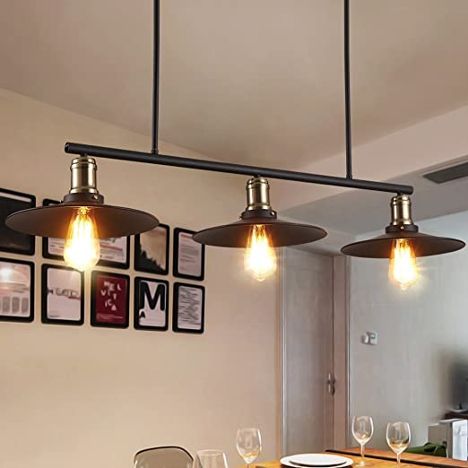 Edge To Araña Retro Industrial Wind 3 Head Chandeliers Restaurant ...