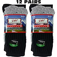 Mens Thermal Socks Ultra Warm Thick Boot Socks 12-pack By DEBRA WEITZNER