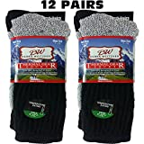 Womens Thermal Socks Ultra Warm Thick Boot Socks 12-pack Assorted By DEBRA WEITZNER
