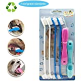 Dog toothbrush,silicone finger toothbrushes set,for small to large dogs, cats