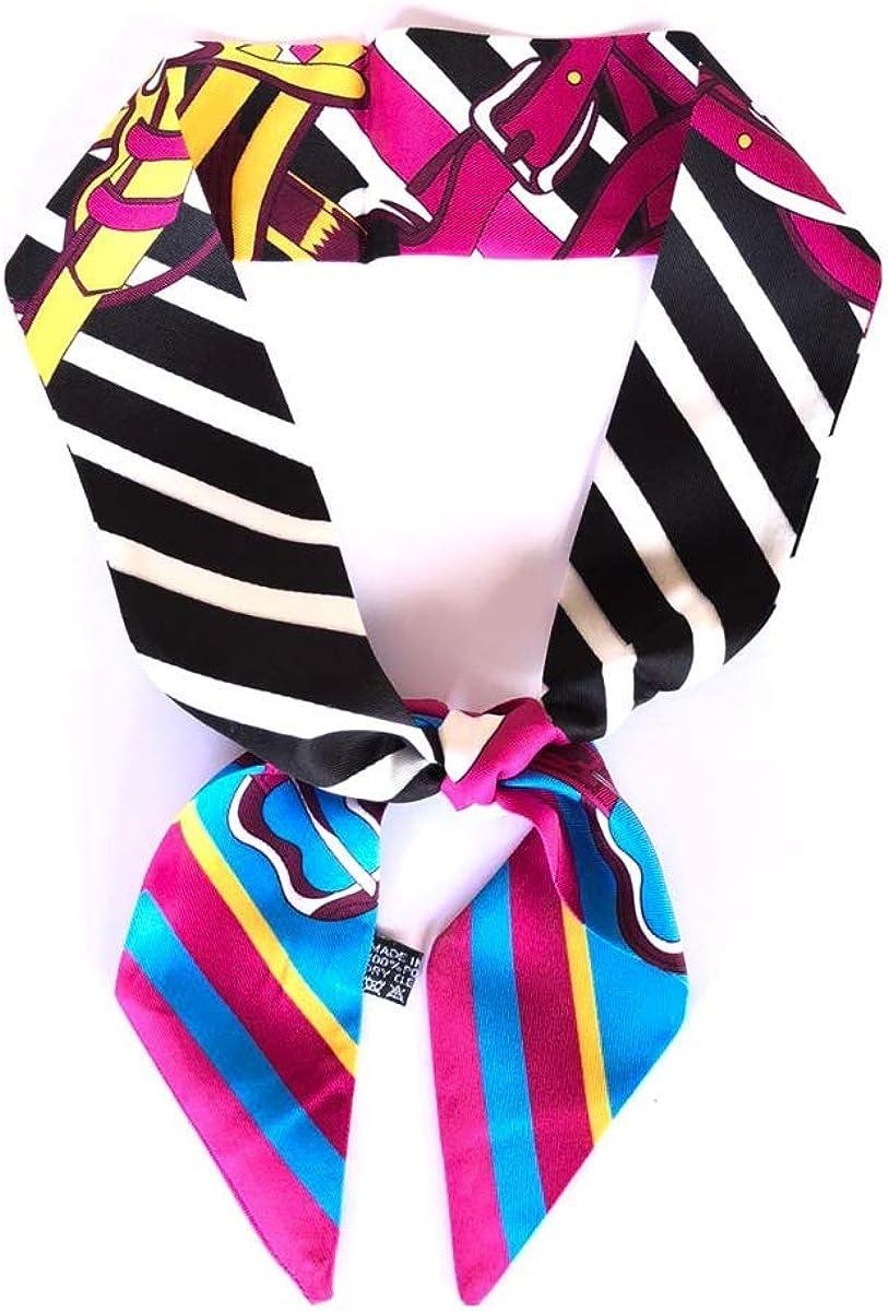 Generico Fazzoletto da collo donna-Foulard per capelli-Fascia in tessuto stampato effetto seta