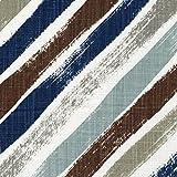 Stella Regal Blue Diagonal Stripe Tailored Euro Sham Cotton Linen