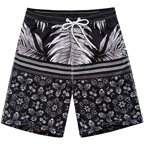 Sunshine Code Men's Quick Dry Boardshorts Bathing Suits Swimming Trunks Swim Water Floras Shorts, XXXL(34-36), New - New Mens Swimwear