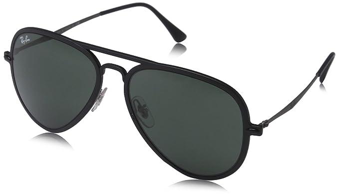 ray ban matte black aviators  Amazon.com: Ray-Ban RB4211 Sunglasses 601S71-56 - Matte Black ...