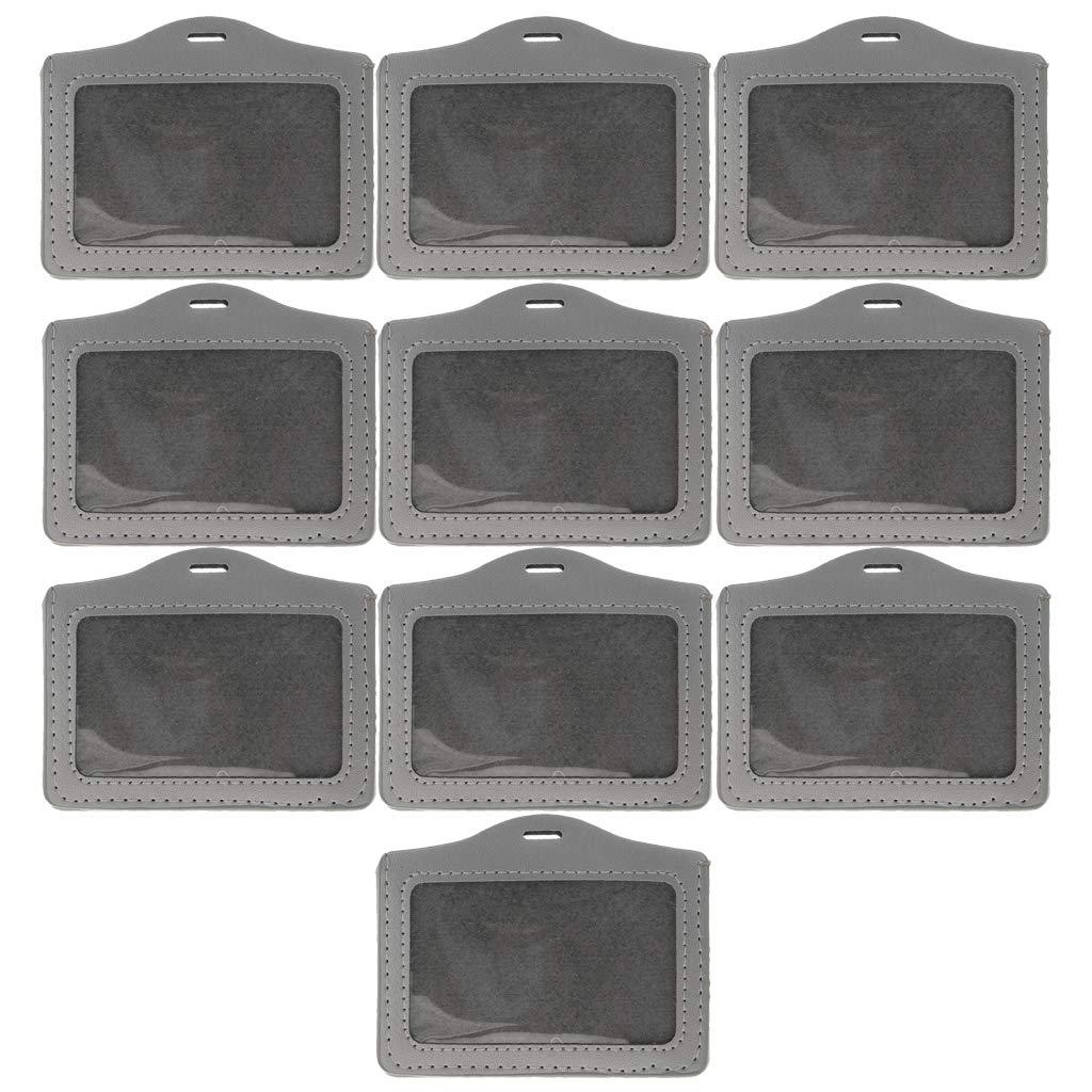 perfk Protettore Per Porta Badge Identificativo ID Tessera Carta Credito Sicurezza con Cordino - Blu scuro