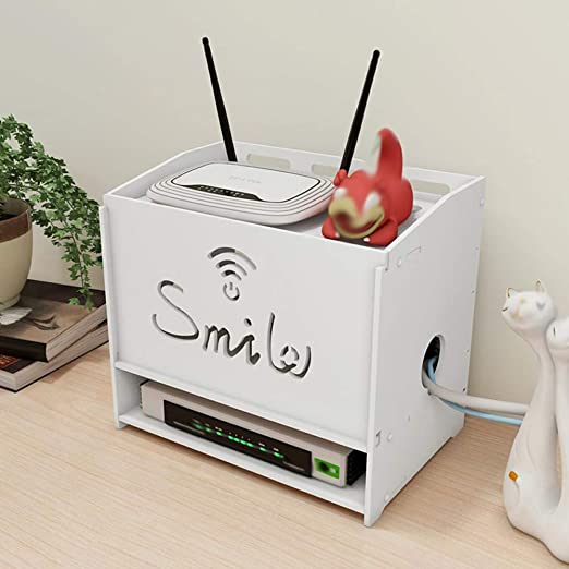 XSY2 Colgador de Pared WiFi Router Estante Televisor Set-Top Rack Caja de Almacenamiento: Amazon.es: Hogar