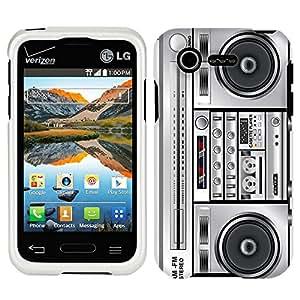 LG Optimus Zone 2 Retro Boom Box Phone Case