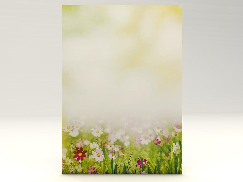 90g//qm Motivpapier Sommerwiese 100 Blatt Motivpapier DIN A4
