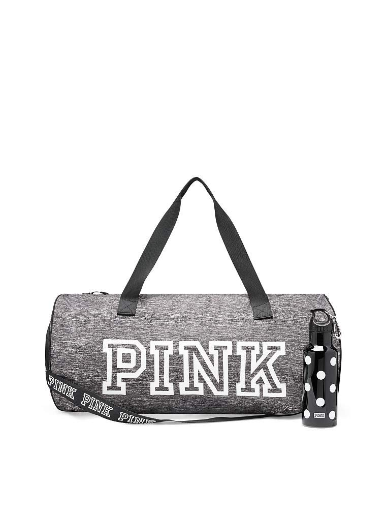f46ca70ffd18 Victoria 's Secret Gray duffle bag PINK friday duffel bag with plastic  water bottle