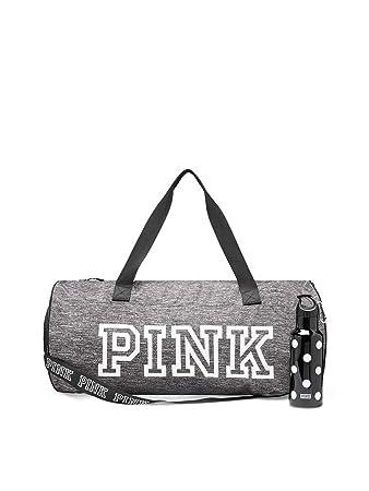 3ea42311c Amazon.com   Victoria 's Secret Gray duffle bag PINK friday duffel bag with  plastic water bottle   Travel Duffels