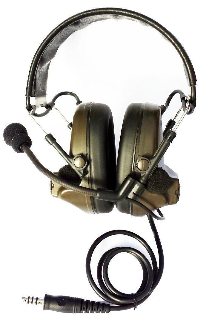 AIRSOFT TOMTAC COMTAC II 2 HEADSET BOOM MIC RADIO PELTOR DESIGN