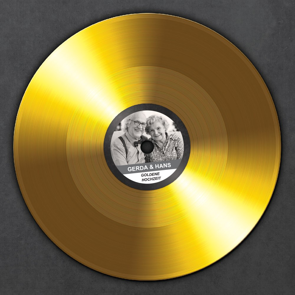 Amazon.de: Goldene Schallplatte zur Goldenen Hochzeit - Urkunde ...