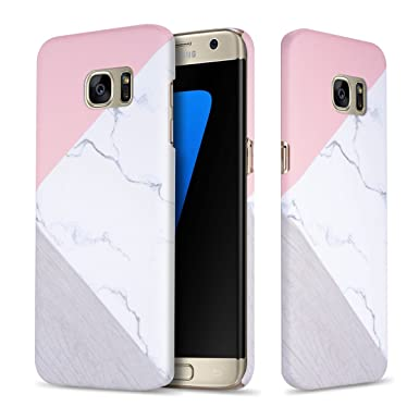 the best attitude 4eba8 17ff1 Leobray Samsung Galaxy S7 Edge Maeble Case, [Marble Pattern] Slim-Fit  Ultra-Thin Anti-Scratch Shock Proof Non-Slip Anti-Finger Print PC Hard Case  for ...