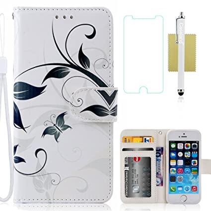 Amazon.com: Funda para iPhone 5S, iPhone 5s Funda tipo ...