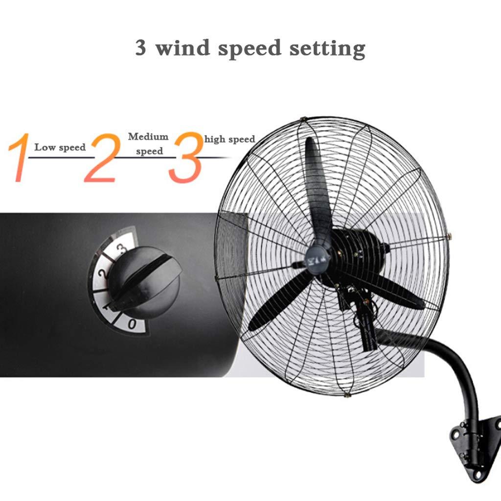 230W Nero 3 velocit/à//Angolo Regolabile Industriale Ventilatore da Parete Oscillante 68cm Laboratorio Fabbricato Industriale