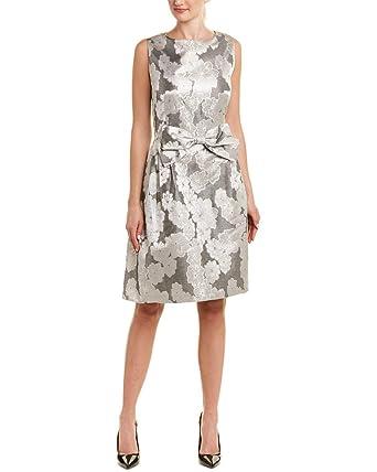 a28b334d96bba Tahari by ASL Womens Metallic Jacquard Bow Dress at Amazon Women's Clothing  store: