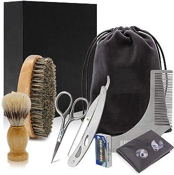Kit de cuidado de barba para hombre, caja de regalo de afeitado ...