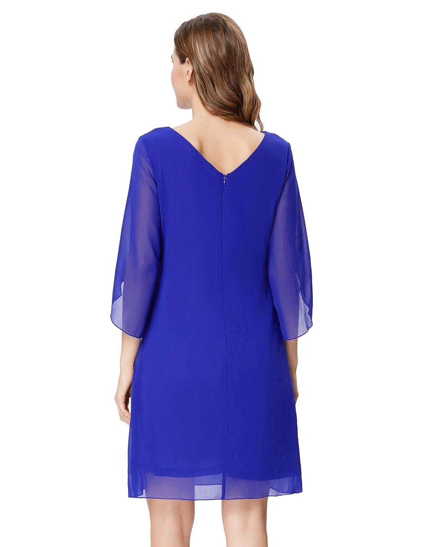 82d00e8fb1f Amazon.com  GRACE KARIN Women Loose Chiffon Dress 3 4 Sleeve Evening Dress  for Cocktail Party  Clothing