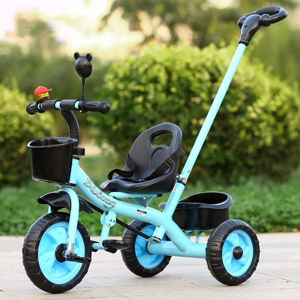 Playas HJFGIRL Triciclos Bebes 1 A/ño Bici 3 en 1 Plegable Bicicletas Estaticas BH con Rueda Inflable de Espuma EVA Puede Soportar 35kg Adaptar a Parques Caminos de Grava Viajes